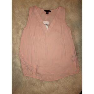 Blush Pink Short Sleeve Blouse NEW